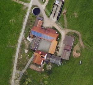 Hahnershof von oben gesehen