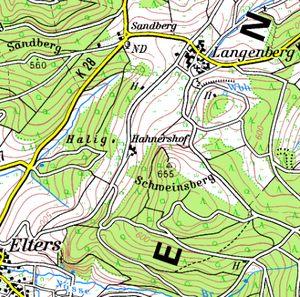Übersichtskarte vom Hahnershof